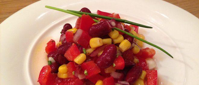 Veganer Kidney Bohnensalat
