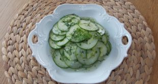 Rezept - veganer Gurkensalat