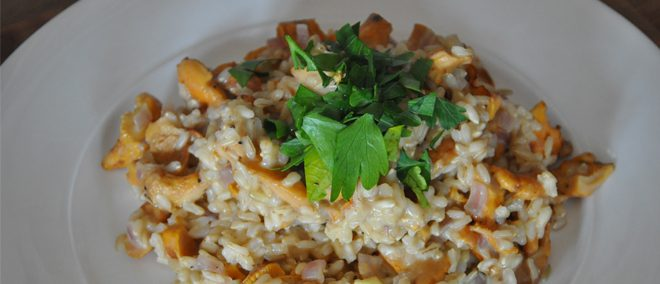 Veganes Pfifferlingrisotto - Rezept