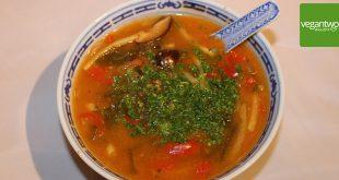 Rezept für vegane Pekingsuppe