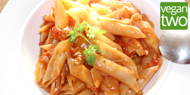 One Pot Pasta mit Tomatensauce