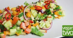 Rezept für veganen tunesischen Gurkensalat