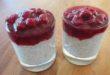 Chia Himbeer Pudding 110x75 - Chia Samen Pudding mit Himbeeren